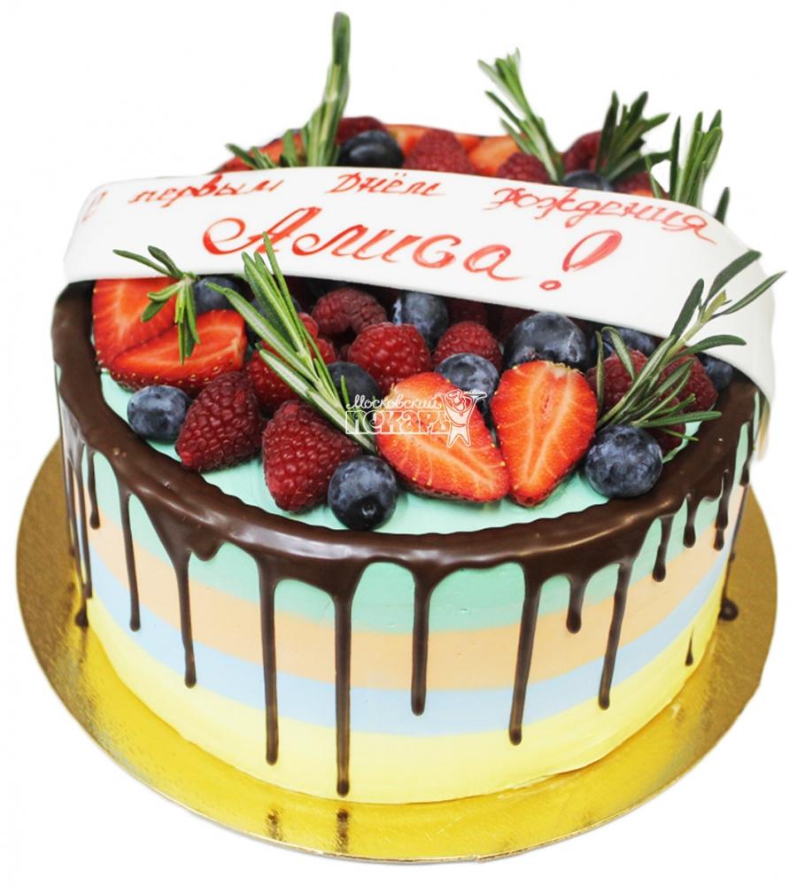 №3639 Торт с фруктами и ягодами