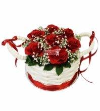 №3642 Торт корзина роз