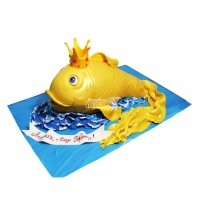 №3668 3D Торт Золотая Рыбка