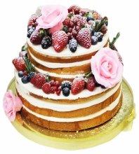 №3682 Торт с ягодами и розами