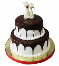 №3687 Свадебный торт с кошками