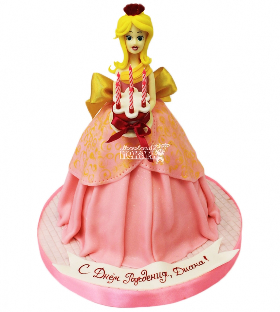 №3709 3D Торт кукла