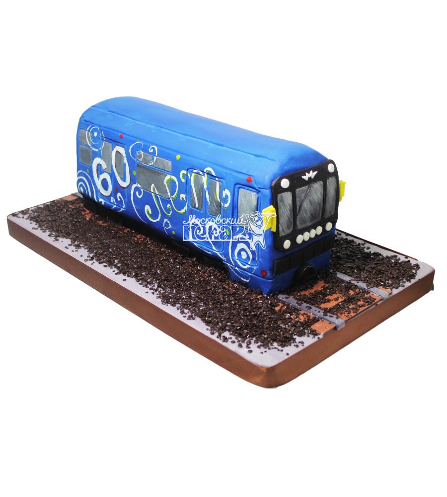 №3754 3D торт вагон метро
