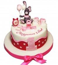 №3762 Торт на 1 годик с зайцем
