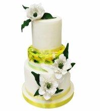 №3773 Свадебный торт с цветами