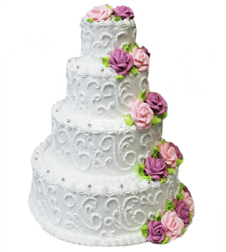 №3775 Свадебный торт с розами