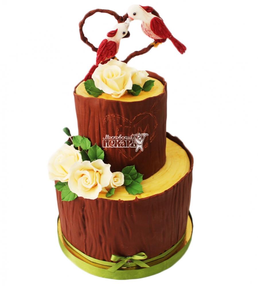 №3781 Свадебный торт с попугаями