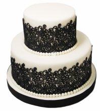 №3798 Свадебный торт с кружевами