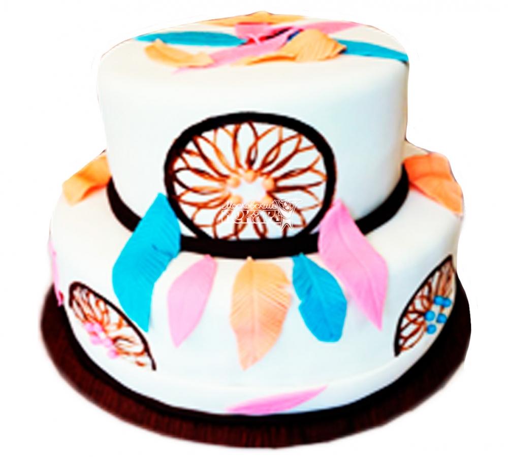 №3801 Свадебный торт с перьями