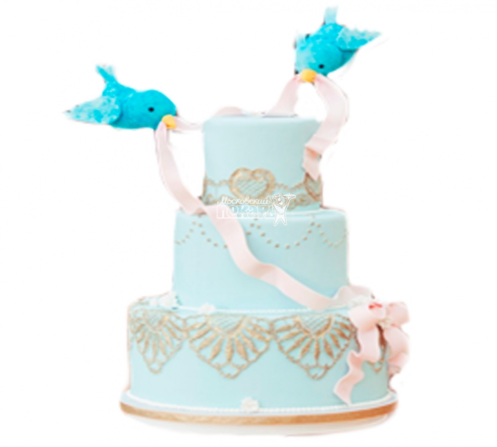 №3803 Свадебный торт с птицами