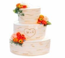 №3804 Свадебный торт с цветами