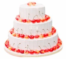 №3805 Свадебный торт с вишней