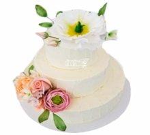 №3808 Свадебный торт с цветами