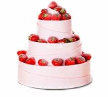 №3812 Свадебный торт с клубникой