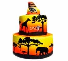 №3813 Свадебный торт в стиле сафари