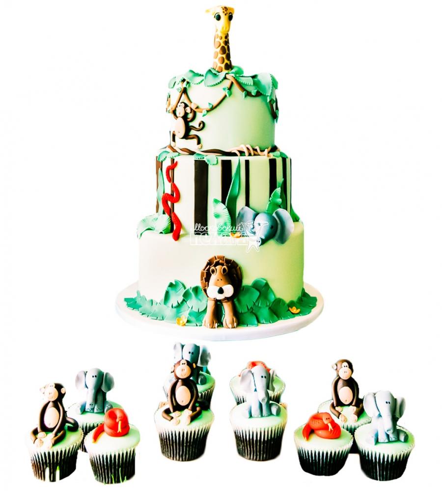№3819 Детский торт с капкейками