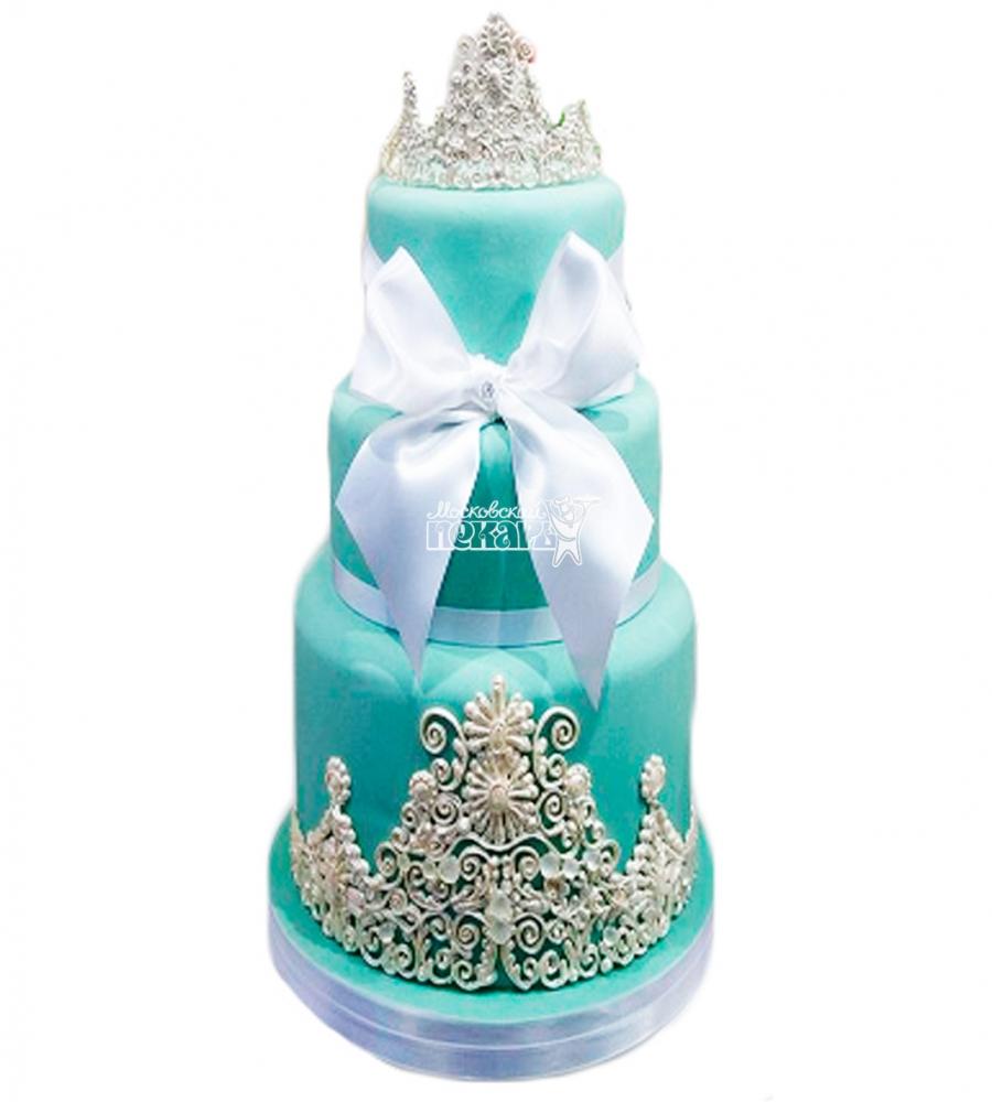 №3829 Свадебный торт с бантом