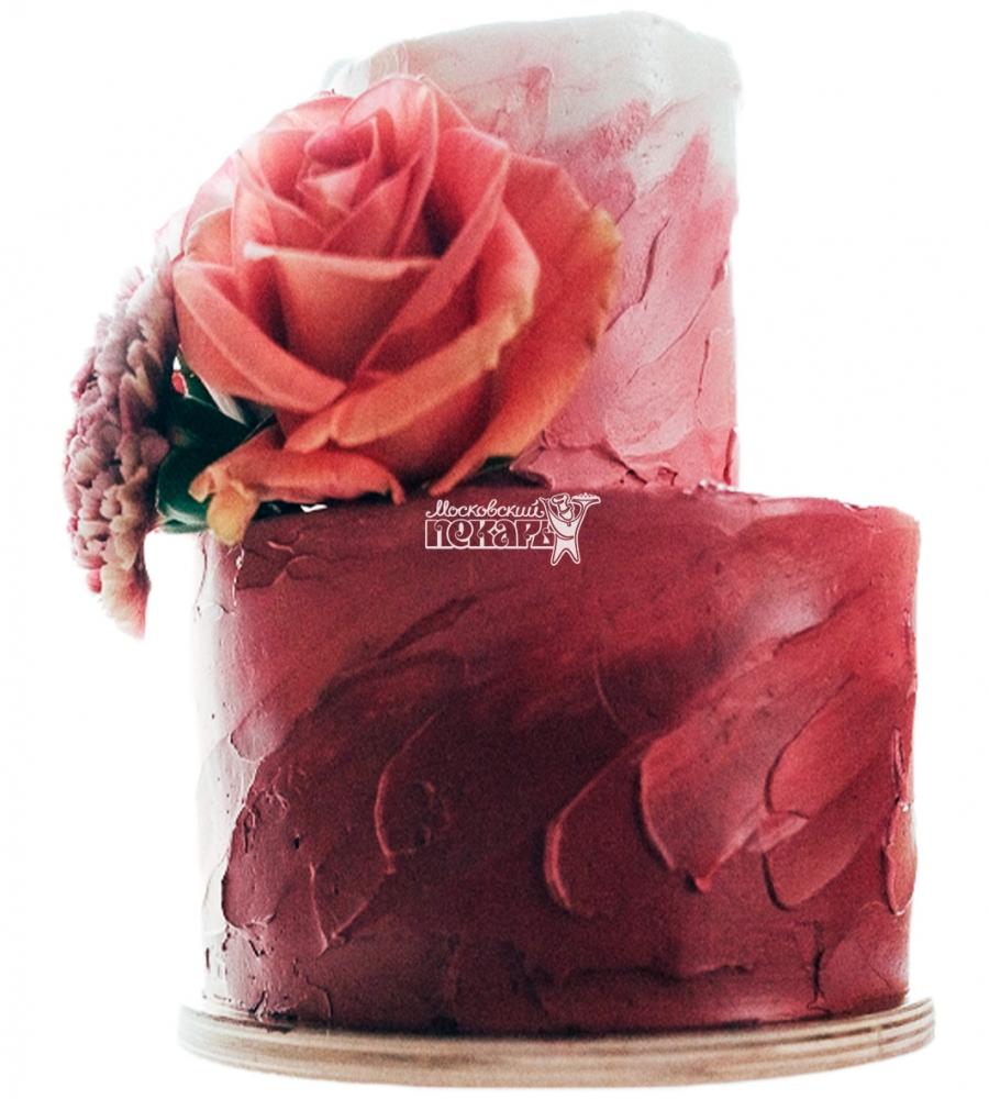 №3831 Свадебный торт с розами