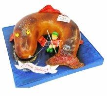 №3848 3D торт рыбаку