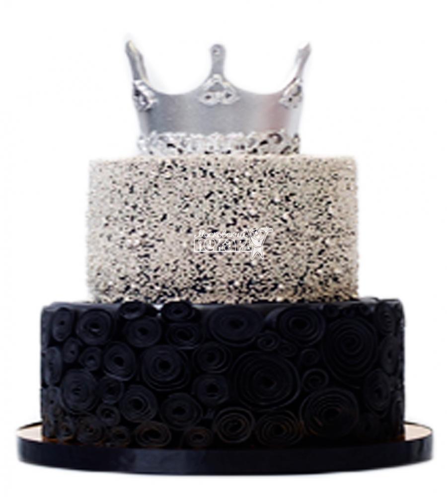 №3874 Свадебный торт с короной
