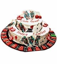 №3875 Свадебный торт с картами
