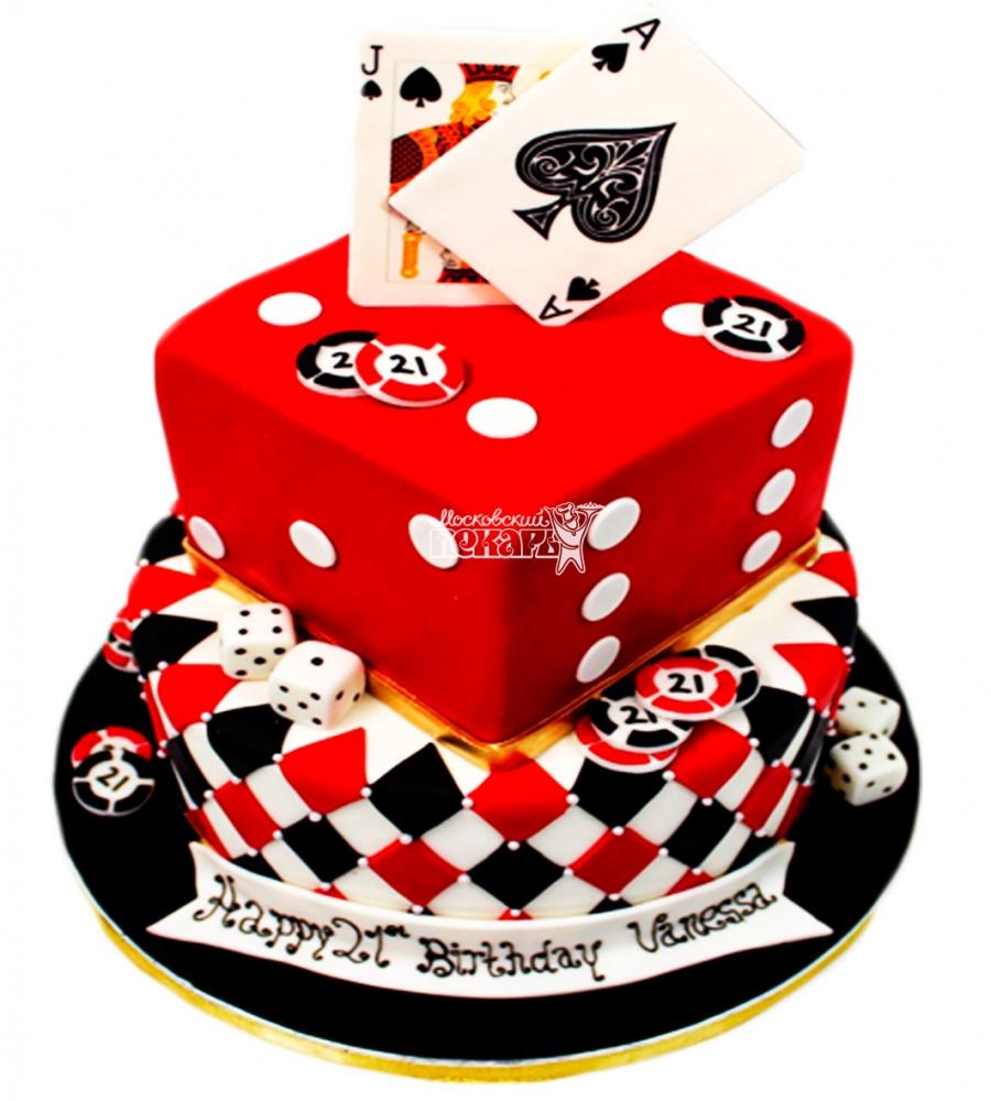 №3880 Свадебный торт с картами