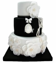 №3881 Свадебный торт с цветами