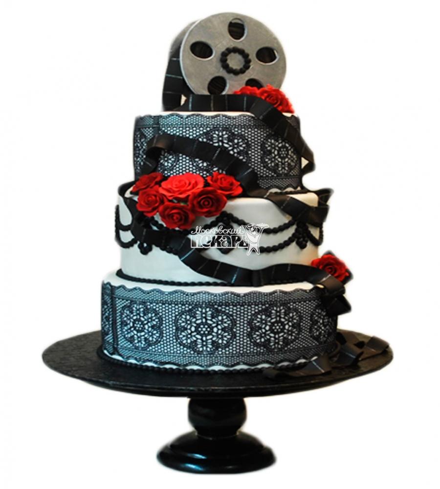 №3885 Свадебный торт кинолента