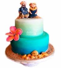 №3886 Свадебный торт морской
