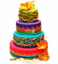 №3887 Свадебный торт с узорами