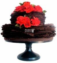 №3888 Свадебный торт с розами