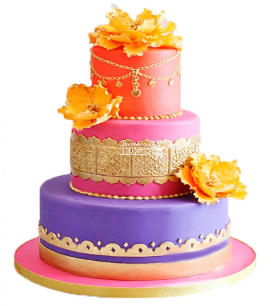 №3889 Свадебный торт индийский