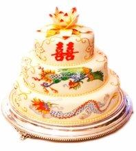 №3890 Свадебный торт с узорами