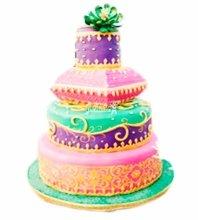 №3892 Свадебный торт с узорами