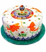 №3894 Свадебный торт с рыбами