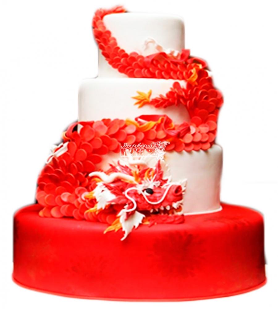 №3895 Свадебный торт с драконом