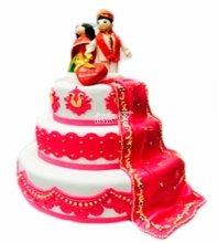 №3900 Свадебный торт индийский
