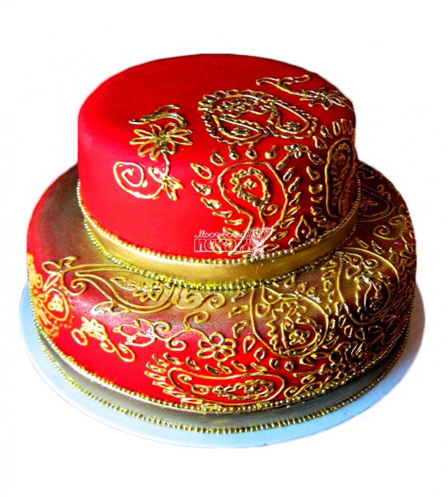 №3904 Свадебный торт с узорами