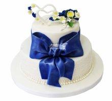№3919 Свадебный торт с бантом