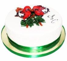 №3937 Свадебный торт с птицами