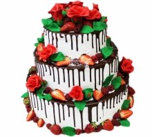 №3953 Свадебный торт с ягодами