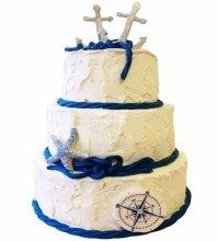 №3974 Свадебный торт морской