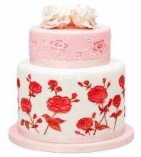 №3981 Свадебный торт с цветами