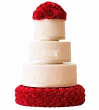 №3984 Свадебный торт с розами