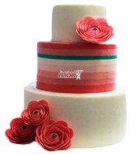 №3985 Свадебный торт с цветами