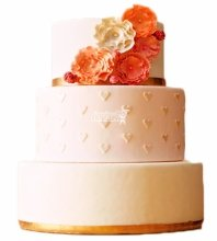 №3987 Свадебный торт с цветами