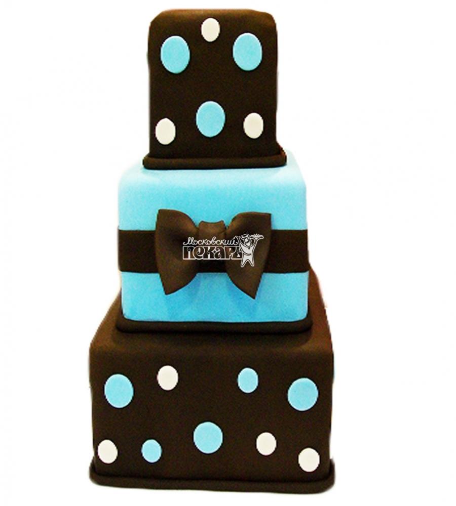№4002 Свадебный торт с бантом