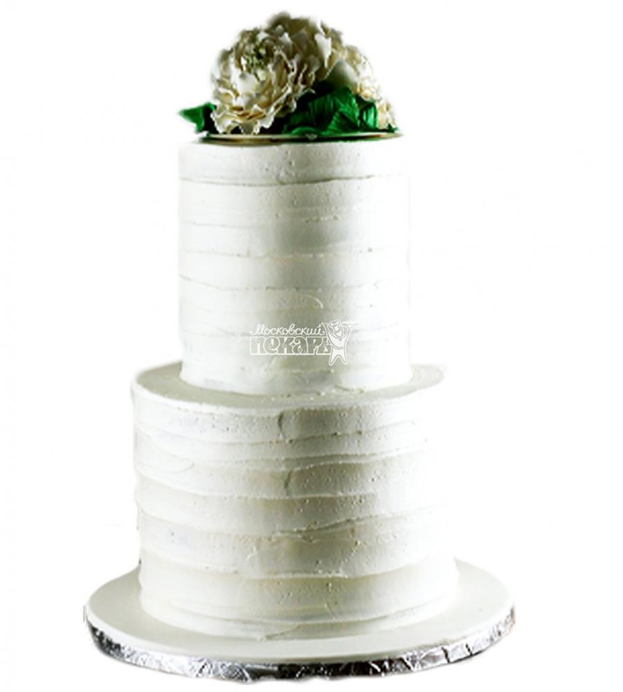 №4004 Свадебный торт с цветами