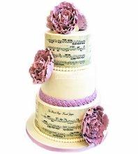 №4005 Свадебный торт музыкальный