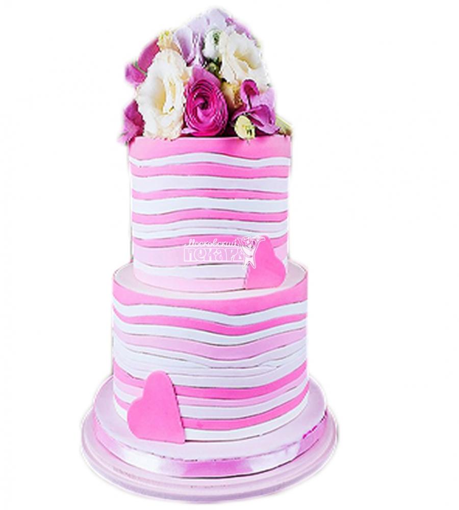 №4006 Свадебный торт с цветами